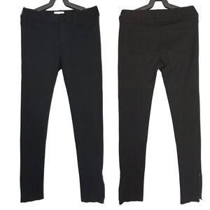 Vince Black Skinny Moto Ankle Zip Pants Leggings 4